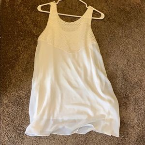 WHITE CUTE MINI DRESS